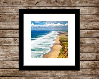 "Bay Area Home Decor   ""Point Reyes Beach""   San Francisco Photo - California Travel Beach Wall Art   12x12 Photo - 12x12 Print - Ikea Ribba"