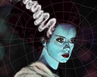 Elsa Lanchester as the Bride of Frankenstein by Mikey Sevier