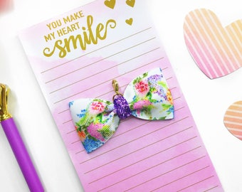 Lilac Floral Planner Charm/ Planner Charm / Bow Planner Charm
