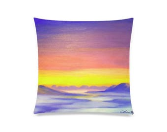 "Pillow Cover 20""x20"" +6 other sizes -Cloud Valley- FREE Shipping"