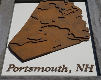 3D Topographic Map of Portsmouth, NH