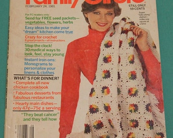 1981 Family Circle Magazine~Vintage Collectible~Free S&H within US~