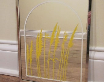 Academy Arts Mirror Picture with Wheat 1976 Mid Century Modern