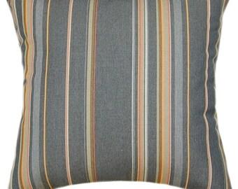Sunbrella Stanton Greystone Indoor/Outdoor Striped Pillow