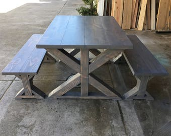 Custom Trestle Table | Farmhouse Wood Dining Table | Wood Trestle Table | Wood Table | Farm Table | Farmhouse Table | Dining Table