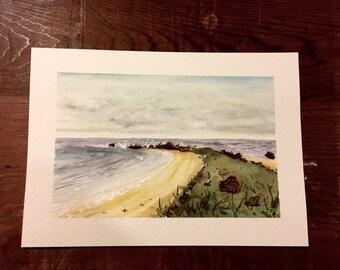 Beachside Watercolour Painting