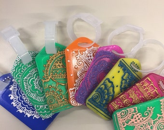 Henna Inspired Luggage Tags