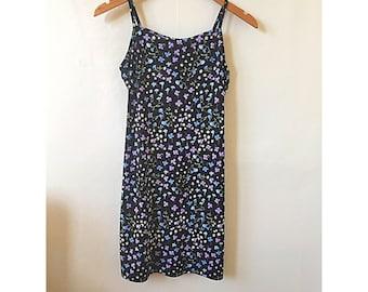 1990s Floral Mini Dress