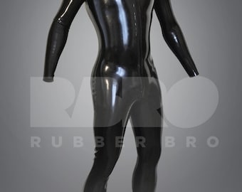 Mens latex rubber catsuit 0.4 mm size XS/S/M/L