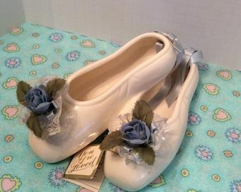 Vintage Ceramic Ballet Slippers ~ Porcelain Ballet Slippers ~ Hanging Balet Slippers