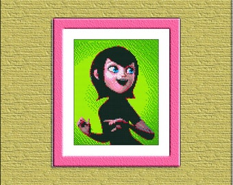 Pattern cross stitch Hotel Transylvania Mavis Instant Download, Cross Stitch Girl, Needlework Girl, Sewing Girl, Embroidery, Digital #027