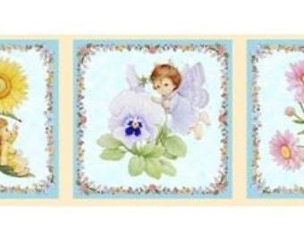 Fabric patchwork/decoration FRIEZE D ANGELS 2