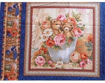 Fabric patchwork/decoration 1 thumbnail TEDDY FLOWER II