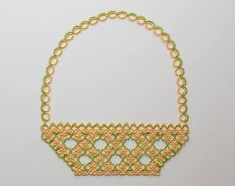 Basket Tatting Pattern