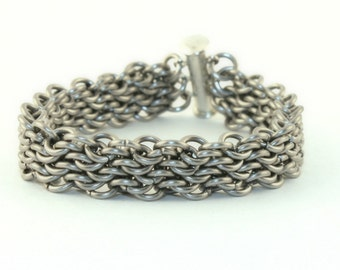 Chainmail Bracelet - Stainless Steel Bracelet - Chainmaille Jewelry - Chainmaille Bracelet - Stainless Steel Bracelet