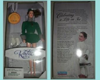 1997 Playmates Katia (Ekaterina Gordeeva) Skating Doll - VG+ Box - 2 Time Olympic Gold Medalist!