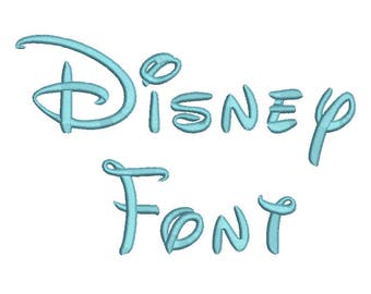 Disney Embroidery Font 5 Size  Font Machine Embroidery Font Instant Download 9 Formats Embroidery Pattern PES and BX