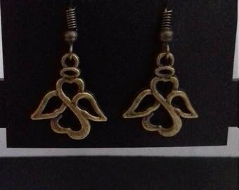 Bronze Angel Earrings