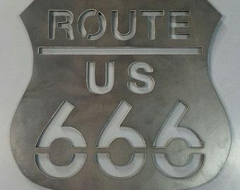 Novelty RT 666 metal wall decor