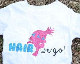 Girls' Trolls Shirt, Princess Poppy T Shirt, Trolls Shirt