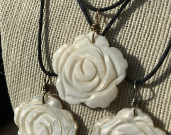 Handcarved Shell Necklace