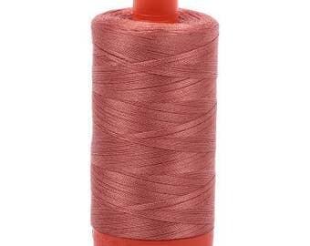 Aurifil Mako Cotton Thread Solid 50wt 1422yds 1050-6728 Cinnibar