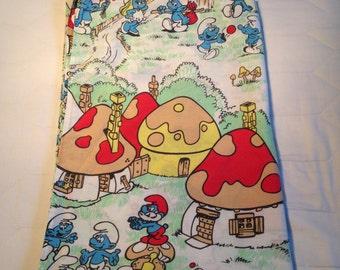 Vintage Smurfs Twin Flat Sheet