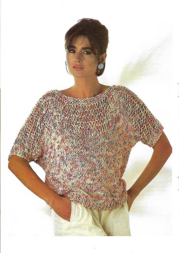 knitting pattern, women's ladies, summer sweater, jumper ...