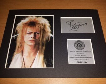 David Bowie Signed Autograph Display - Mounted And Ready To Be Framed - Ziggy Stardust
