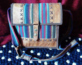 Beautiful leather and canvas shoulder bags