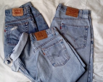 Lot Bulk Wholesale 3 Vintage Levi's Jeans Relaxed Mom Jeans