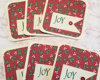 Christmas Joy 3x3 Mini Cards - Set of 6