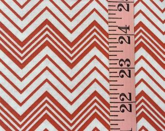 Red, White Zig Zag Stripe Fat Quarters.