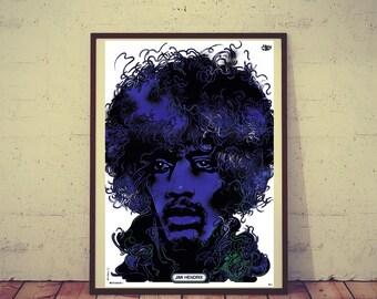 Polish Poster JIMI HENDRIX Portrait Limited Edition 1974/2017