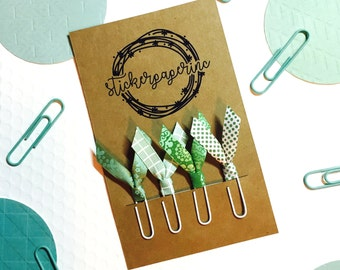 Ribbon Planner Clips | Paper Clips | Bible Journaling | Planner Accessories | Clips for Planners | Green Clips | Planner Accessory | Setof 4