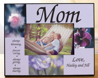 Personalized Always Blooming Personalized Picture Frame Custom Name Gift