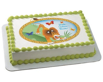 Little Golden Books The Tawny Scrawny Lion Edible Cake Topper