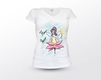 Fairy Shirt, Flower Power, Fairytale Shirt, Flower Lover, Fairy Clothing, Fairy T-Shirt, Fairy Tshirt, Fairy Top, Fairy Tee, Fairy Tee Shirt