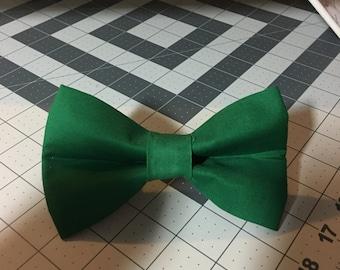 Dark green dog bow tie