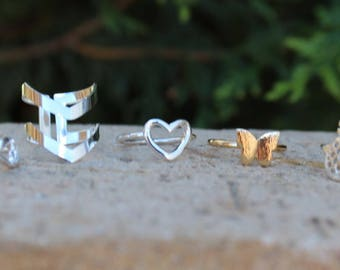 Fun gold plated rings / silver plated