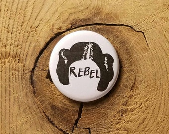 "Rebel (1-1/4"" Pinback Button)"