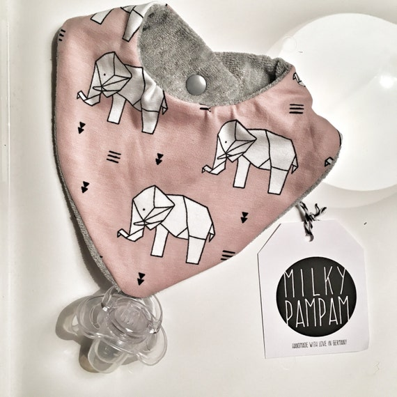 Triangle bib- scarf- with pacifier holder