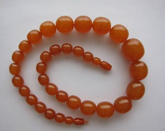 Necklace art deco bakelite caramel