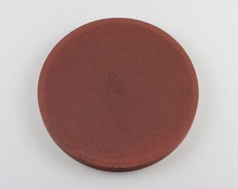 Round top in Brown brick concrete / / empty Pocket concrete / / decorative concrete tray / / concrete tray / / cast-iron serving tray