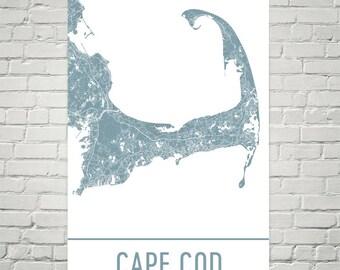 Cape Cod Map, Cape Cod Wall Art, Cape Cod, Cape Cod Print, Map of Cape Cod, Cape Cod MA Art Poster, Gift, Birthday, Decor, Modern, Art
