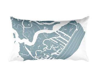 Avalon Pillow, Avalon Decor, Avalon Cushion, Avalon Throw Pillow, Avalon Gift, Avalon NJ Map, Avalon Art, Avalon New Jersey, Avalon Beach