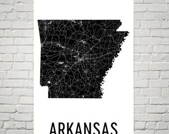 Arkansas Art, Arkansas Map, Arkansas Print, Arkansas Wall Art, Arkansas Sign, Arkansas Gifts, Arkansas Decor, Arkansas, Map of Arkansas