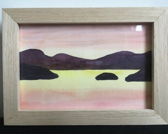 Aquarel 'Bay', framed