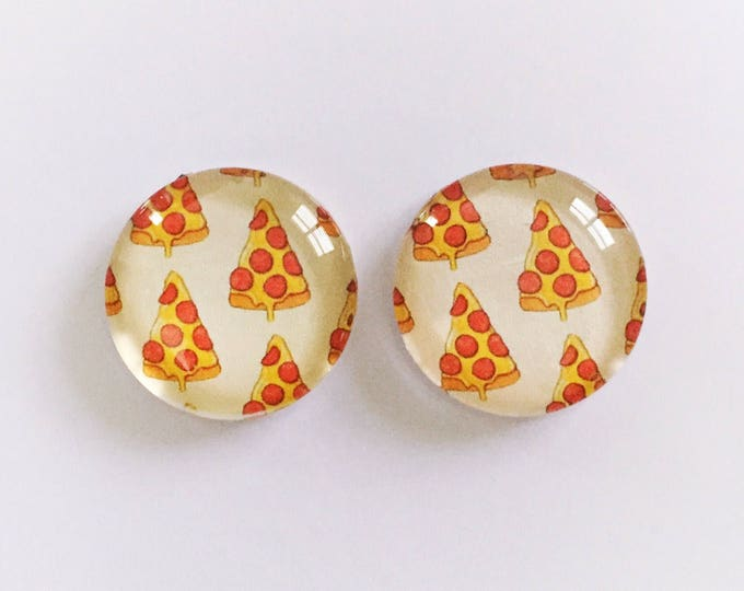 The 'Pizza' Glass Earring Studs