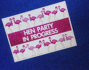 Pink Flamingo! Bachelorette Party Photo booth Props ! Hen Party Game ! Hen party photo booth ! Bachelorette party game!